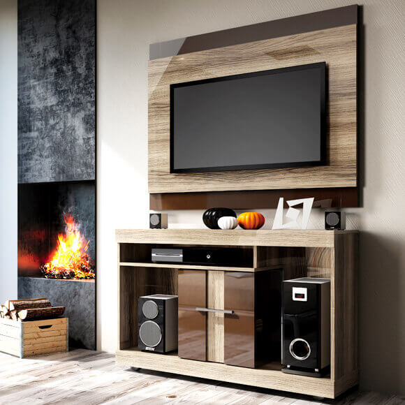 Conjunto Rack com Painel para TVs de até 42″ San Diego – Linea Brasil