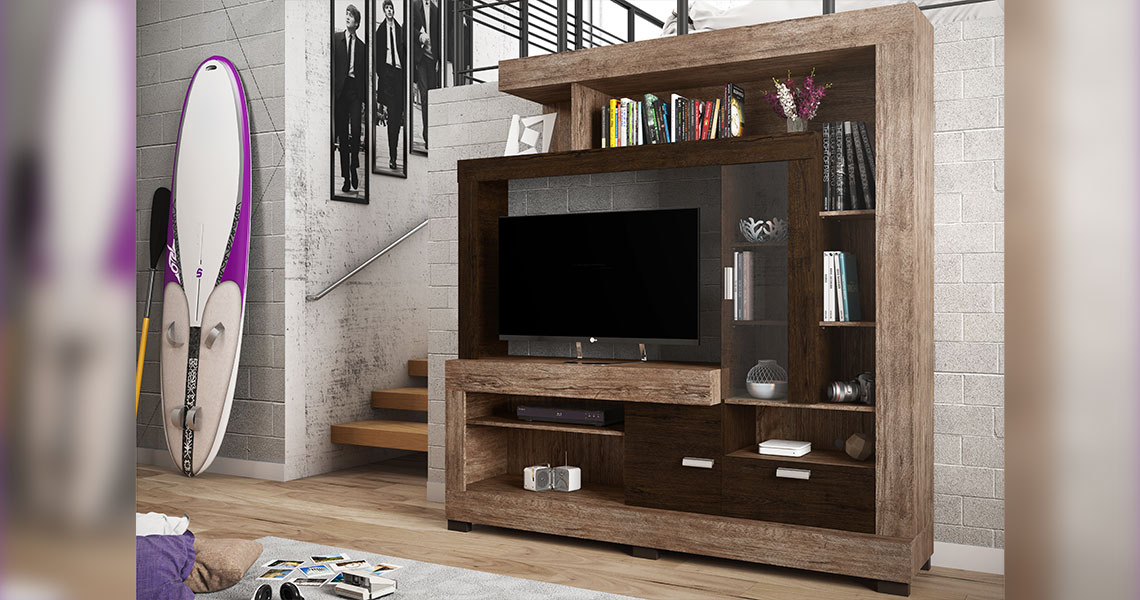Estante para TVs de até 47″ Acácia