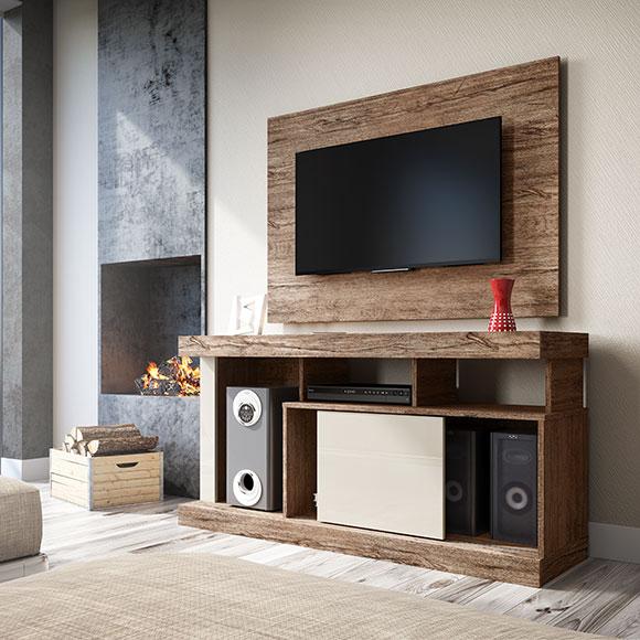 Rack para TVs de até 42″ Quartzo