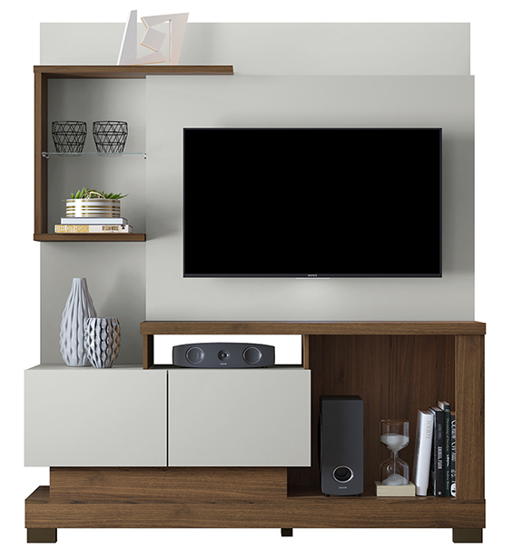 ab0f6c4996364 Entertainment Center for TV up to 50'' Turin Smart | Linea Brasil.