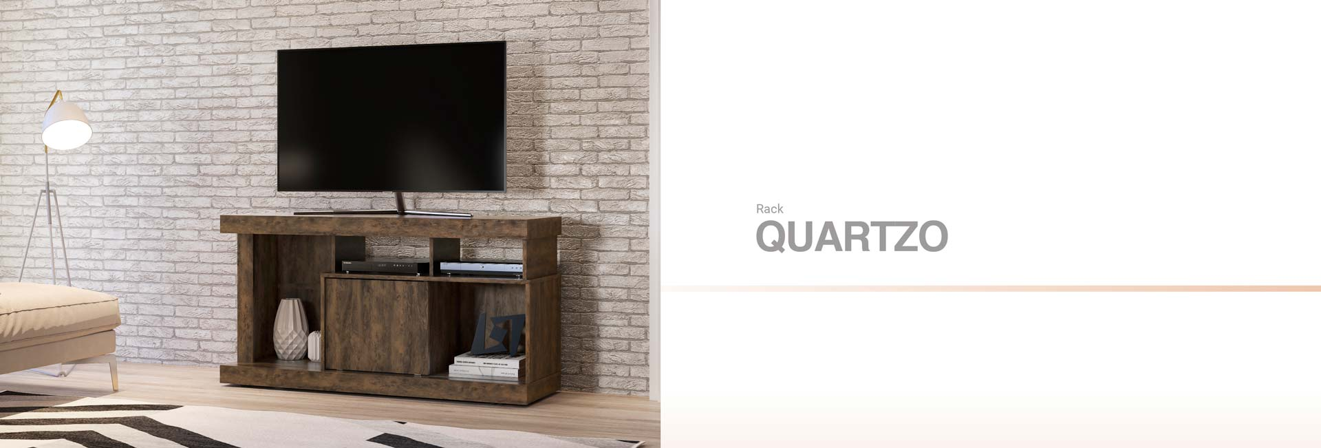 Rack para TV Quartzo