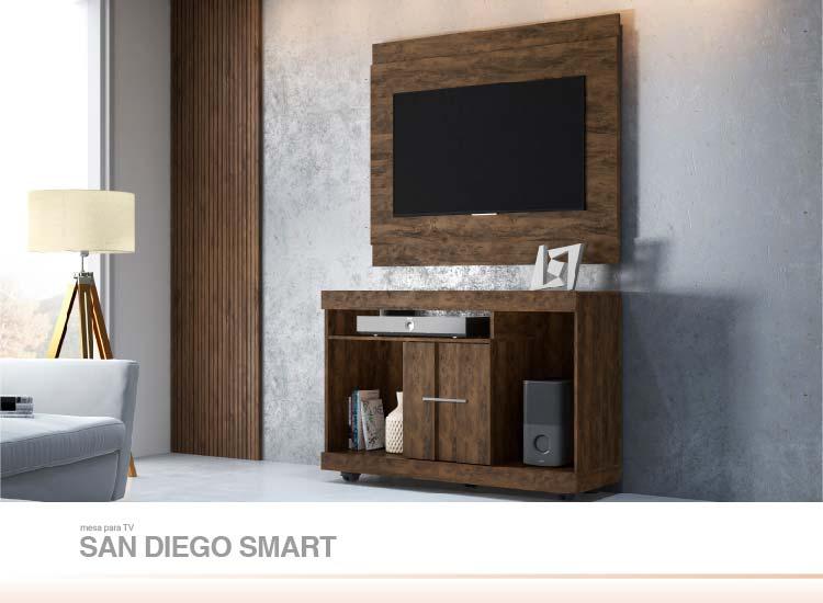 Conjunto Mesa para TV  Panel San Diego Smart